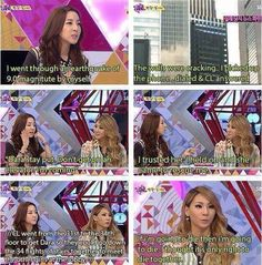 This is why i love them they have such a close relationship with each other #2NE1FIGHTING!