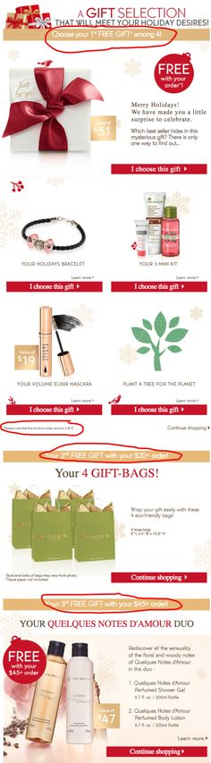 Yves Rocher holiday gift with purchase - free 100 value gifts w/$45 purchase