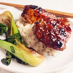Honey-Sesame Teriyaki Chicken with Bok Choy: We love the flavor of dark chicken meat for this recipe, but white meat works just as well. For skinless, boneless chicken breast, follow the same procedure for baking, but start checking for doneness around the 20-minute mark to avoid overcooking.