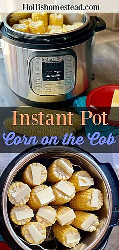 Instant Pot Corn On The Cob is the easiest and most efficient way to cook corn on the cob. No more boiling water and heating up your house in the middle of summer. Cook fresh or frozen corn on the cob to perfection in minutes. Instant Pot Corn on the Cob Best Instant Pot Recipe, Instant Pot Dinner Recipes, Instant Recipes, Instant Pot Pressure Cooker, Pressure Cooker Recipes, Pressure Cooking, Instant Cooker, Crockpot Recipes, Cooking Recipes