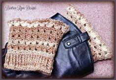 Amazing Grace Boot Cuffs Free Crochet Pattern by Beatrice Ryan Designs Crochet Boots, Crochet Gloves, Crochet Slippers, Crochet Headbands, Knit Headband, Baby Headbands, Knit Hats, Crochet Boot Cuff Pattern, Crochet Patterns
