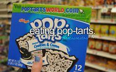 Eating Pop-Tarts