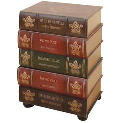Stacked Books On Pinterest Book Cabinet End Tables And