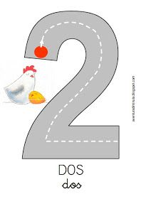 COSITAS PARA EL COLE: agosto 2013 Numbers Preschool, Math Numbers, Learning Numbers, Writing Numbers, Kindergarten Math Activities, Teaching Math, Preschool Activities, Number Activities, Pre K Worksheets