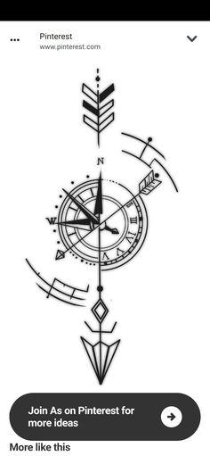 Viking Compass Tattoo, Simple Compass Tattoo, Arrow Compass Tattoo, Compass Tattoo Design, Arrow Tattoo Design, Arrow Tattoos, Forarm Tattoos, Cool Small Tattoos, Cool Tattoos For Guys