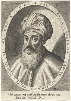 Dominicus Custos | Portret van de Turkse generaal Ali-Bassa, Dominicus Custos, 1579 - 1615 |