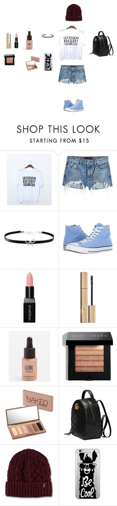 """""""girly summer outfits"""" by katelinosborn on Polyvore featuring T By Alexander Wang, Giani Bernini, Converse, Smashbox, Stila, Topshop, Bobbi Brown Cosmetics, Urban Decay, Gucci and Dr. Martens"""