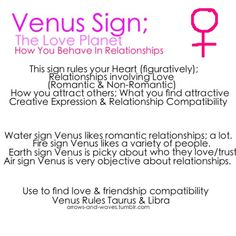 Astrology: Venus Sign | #astrology #zodiac #venussign