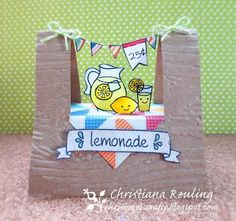 Pop-up Lawn Fawn Lemonade Stand card & video tutorial, by Christiana Reuling