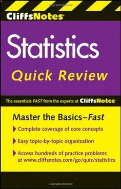 CliffsNotes Statistics Quick Review (Cliffs Quick Review) by David H. Voelker. $9.99. Edition - 2. Publisher: Cliffs Notes; 2 edition (May 31, 2011). Author: David H. Voelker. Publication: May 31, 2011