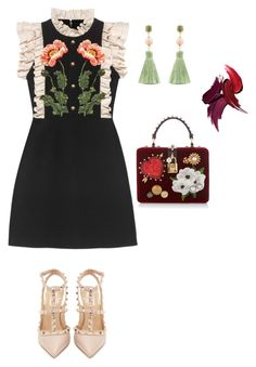 """""""K. Delav out"""" by violetta-gabriel on Polyvore featuring Gucci, Valentino, Dolce&Gabbana and Atelier Mon"""