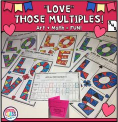 Valentine's Math - Multiples and Common Multiples - Differentiated! (Grades 3-5) | Mrs. Renz' Class
