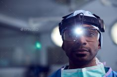 Portrait Of Male Surgeon Wearing Protective Glasses And Head Light In Hospital Operating Theater Head Light, Congratulations Card, Business Flyer, Flyer Design, Theater, Design Ideas, Graphic Design, Marketing, Portrait