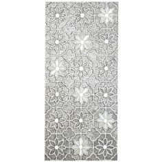 The simple thing about our mosaic wall panel is that it makes a stunning addition to most any living space, be it in an entryway, bedroom, living area or bath. The complexity lies in creating the exclusive floral design in silver and clear glass that's hand-pieced by Indonesian artisans exclusively for Pier 1.