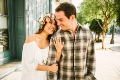 Engagement session through LA photographed by @katieruther