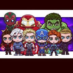 Vision, Iron Man(Hulkbuster Armor), Hulk, Scarlet Witch, Quicksilver, Thor, Captain America, Black Widow, Hawkeye