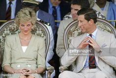 Prince Charles, Prince of Wales and Diana, Princess of Wales sit together during an official visit to Bamenda, Cameroon Get premium, high resolution news photos at Getty Images Princess Diana Images, Princess Diana Family, Princess Kate, Princess Of Wales, Prince William And Catherine, Charles And Diana, Prince Charles, Catherine Walker, Dame Helen
