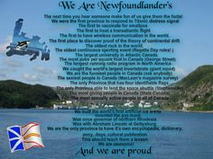 """""""We are Newfoundlanders"""" made by a true Newfie"""