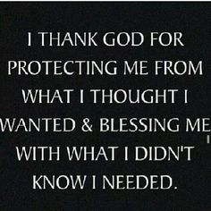 I thank God!