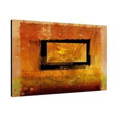 Serie Enigma auf Leinwand zeitlos gelb orange rot 120x80cm Bild Paul Sinus