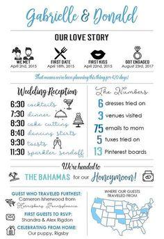 Printable Infographic Wedding Program Unique Wedding Program - Home Page Unique Wedding Programs, Cheap Wedding Venues, Budget Wedding, Wedding Tips, Unique Weddings, Wedding Planner, Our Wedding, Destination Wedding, Dream Wedding