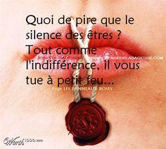 citations d'indifférence | Citation en image sur l'indifférence, le silence qui fait mal.