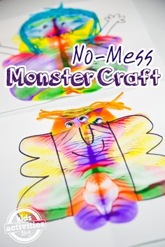No-mess monster craft that your kids will love!