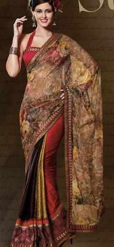 Multy color designer sarees...... www.onlinedesignerstore.com