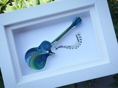 Gibson Les Paul Quilling Art - Gift for Mother Gift for Father Guitar Wall Art For Her For Him Gibson Les Paul Art and Collectible by SenaRuna Paper Quilling Tutorial, Quilling Work, Origami And Quilling, Paper Quilling Designs, Quilling Paper Craft, Quilling Patterns, Paper Crafts, Gibson Les Paul, Origami Christmas Ornament
