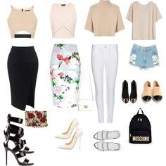 Spring-Summer by daequelbrown on Polyvore featuring polyvore fashion style Fine Collection Topshop Warehouse Maticevski Acne Studios River Island Giuseppe Zanotti Jimmy Choo Alexander Wang Tory Burch Chanel Dolce&Gabbana Moschino