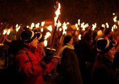 Winter solstice celebration, Edinburgh