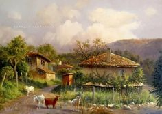 Orient House, Art And Architecture, The Hobbit, Old Houses, Home Art, Vegas, Country Roads, Artist, Painting