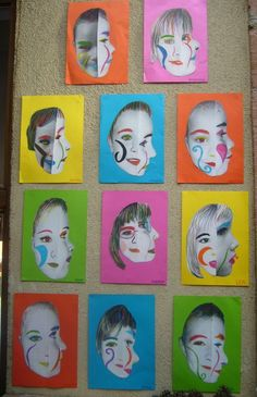 Portraits - Picasso--do the photo and then have the students paint a separate piece based on the photo. Portrait Picasso, Art Picasso, L'art Du Portrait, Cubist Portraits, Pablo Picasso, Kindergarten Art, Preschool Art, Club D'art, Classe D'art