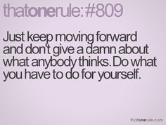 Don't give a damn about what anybody thinks........