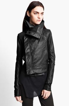 Oh mercy...this is a must have...Rick Owens Leather Biker Jacket available at #Nordstrom