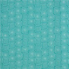 teal square pattern fabric by Michael Miller from the USA