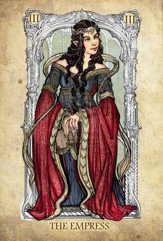 LotR tarot cards - Arwen as The Empress