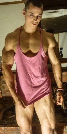 Zach Zeiler • Pig Pink Stringer Tank Top   http://www.eat-train-sleep.com/products/pig-pink-stringer-vest