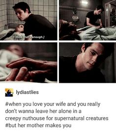 Can't wait until they are legally married and she can't make him leave. #Stydia #teenwolf tumblr