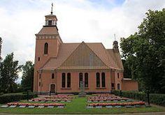 Padasjoen kirkko etelästä.