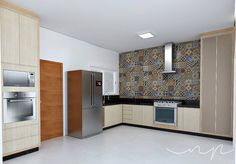 Cozinha | Kitchen por NP Interiores - Núbia Procópio Interiores. Revestimento Eliane.