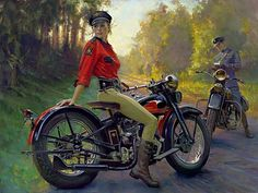 Write away...I'll just enjoy the view and keep riding long after you're gone. Art by David Uhl