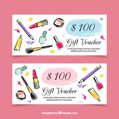Modern hand drawn beauty sales banners Free Vector