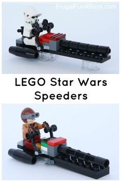 Got Star Wars mini figures? Here's a simple speeder to build for them! Sometime in the past few months we found black rocket thruster bricks at the pick-a-brick wall at the LEGO store. The boys LOADED UP, and those bricks have seen a lot of use! Aidan designed these little speeders with them and built...Read More »