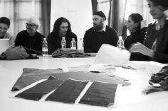 Marina Tonella ( Diesel Style Projects Supervisor) Lupo Lanzara ( General Manager of ACM) Marco Falcioni (Diesel Designer Male Apparel & Sp-Parts) and students of Accademia di Costume e di Moda