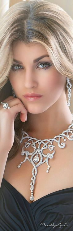 Necklace and earrings - wow factor.