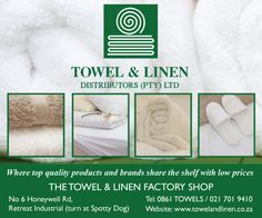 The Towel and Linen Factory Shop in Tokai, Western Cape | The A-Z of Factory Shops