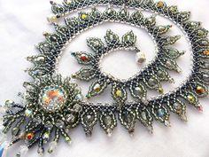 Black Fire necklace - apache leaf