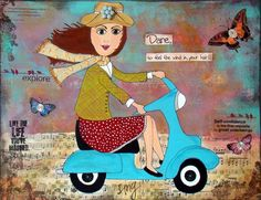 #ridecolorfully #katespadeny #vespa