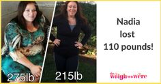 110 Pounds Lost: Facing my food addiction! | ::: visit TheWeighWeWere.com to read weight loss transformations! :::